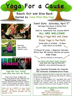 Yoga for a Cause Flyer